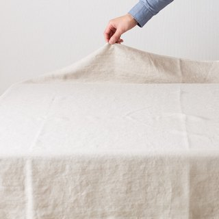 [Production after receipt of order] 110 × 140 cm Organic linen tablecloth # 40 Soft generation