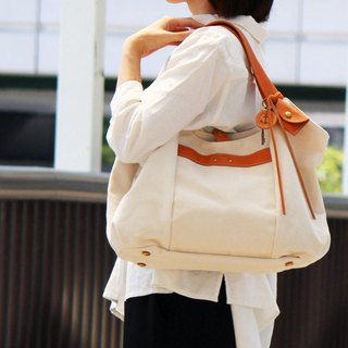 tanton - produce Kurashiki canvas × leather tote bag