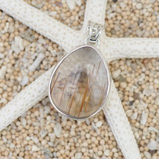 Pendant of rutile quartz