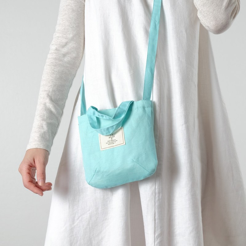 Mini Mint Linen Sling Bag