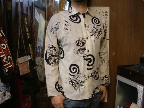 Yukata cloth remake shirt (eddy Dragon)