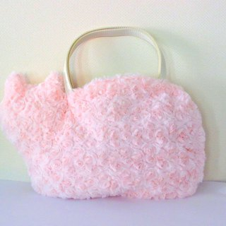 Fluffy fur bag of cats Baby pink
