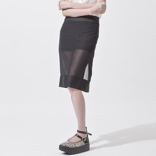 女透明裙短裤 SHORT PANTS INTERGRATE WITH SHEER SKIRT