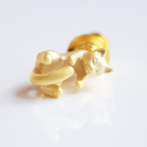 Cat pin brooch Rateyu (Gold)