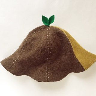 SALE GUYUNG GREAT LINEN Wool leaf beside hat.