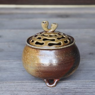 Bizen incense burner (with paulownia box) i-057