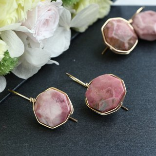 14 kgf - Rose candy wrap pierced earrings