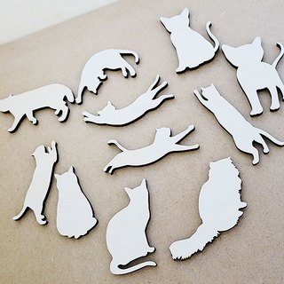 Cat choose magnet (wooden)