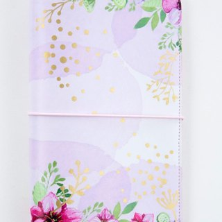 "Travellers Notebook ""Purple Flower Dream"""