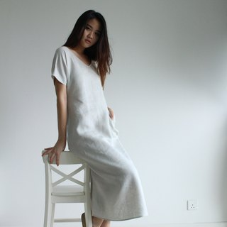 Made to order linen dress / linen clothing / long dress / casual dress E17D