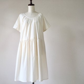 Raglan dress of cotton Created plain