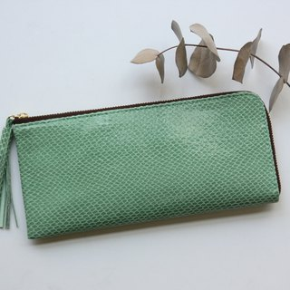Pigskin's slim and light wallet Lime green