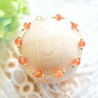 Success, promotion of human relations Minami-red agate (natural color red agate) bracelet May birthstone