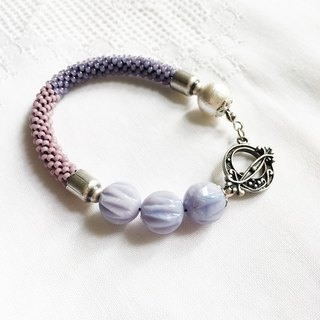 神秘 紫色 钩织 手链 Secret Purple Crochet Bracelet (B1603JC)