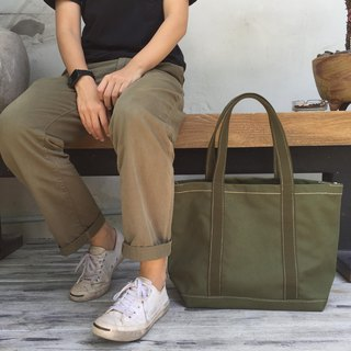 New Simply Green Canvas Tote Bag no.04 / Shopping Bag / Market Bag / Tool Bag