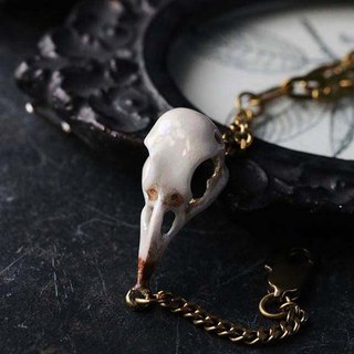 Raven Skull Bracelet - Painted Version by Defy / Crafted Jewelry