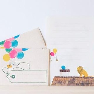 Letter writing set/Lion balloon