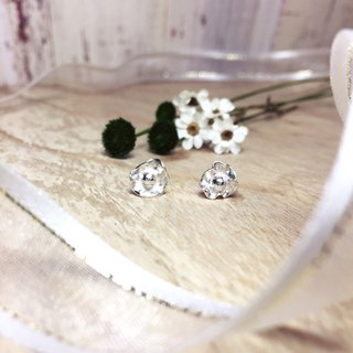 MIH金工首饰 | 小心意花朵 纯银耳环 bring you flowers sterling silver earrings