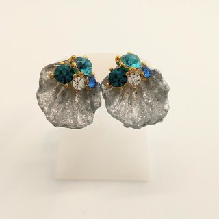 Flower  Earrings Free shipping Handmade With box For gift glitter rhinestone