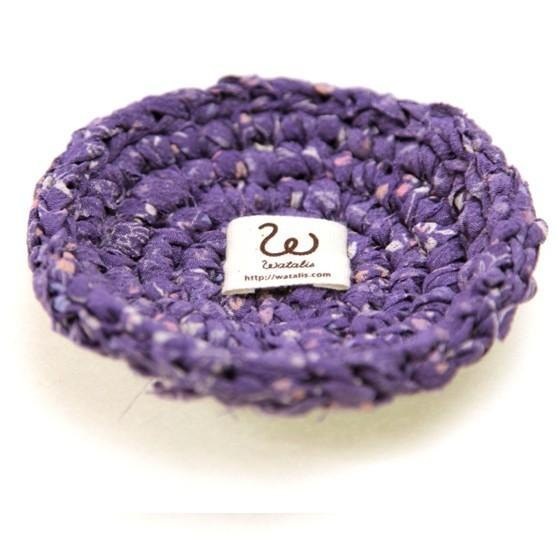Kimono tear knitting coaster Purple