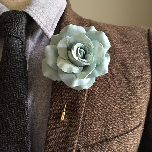 Arctic Blue Brooch/Lapel Pin/