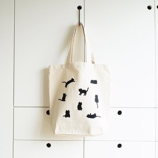 little cats tote bag : natural