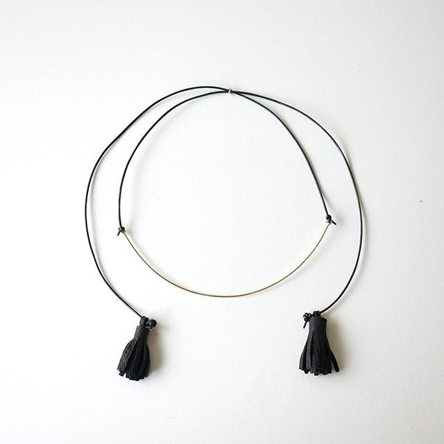 Choker necklace BLACK 14kgf choker necklace