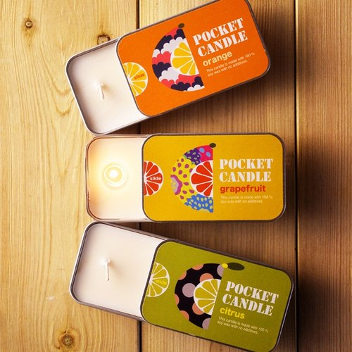 Pocket candle 3 pieces