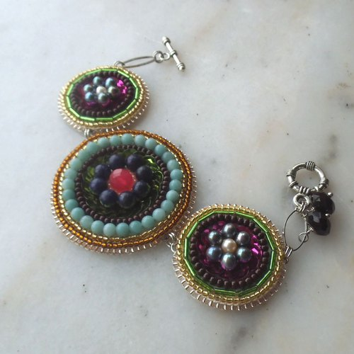【beads embroidery】circle colorful bracelet