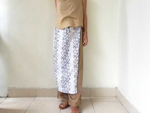 Total embroidery | Pants with wrap skirt like wrapping a salon