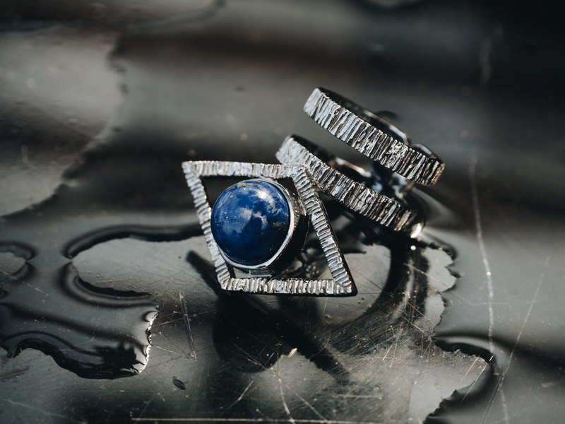 Ring LAPIS LAZULI natural stone - THE SIGHT COLLECTION