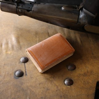 Japan Production Coloring Glass Cowhide Name Single Pouch Name Bottle Box Color Thomas Ware made in JAPAN handmade leather card case