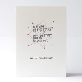 William Shakespeare's Quote - Letterpress Print