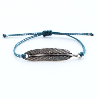 Leaf string adjustable bracelet / Waterproof bracelet
