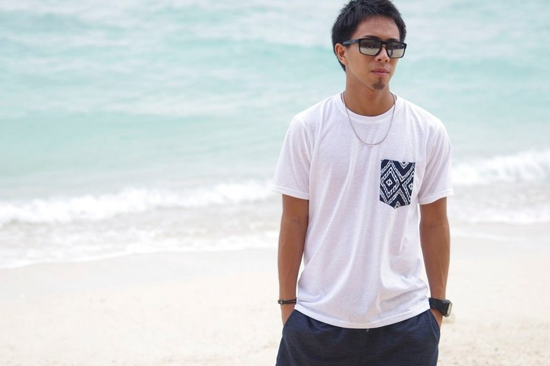 Men's Summer T-shirt <Ikat Black>