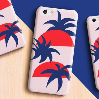 Sunrise and palm trees Phone case