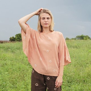 linnil: Old-rose butterfly tunic / natural dye