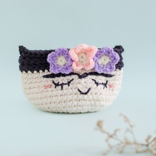 Crochet Coin Purse - Frida Kahlo No.2 | Crochet Coin Case | Small Round Pouch