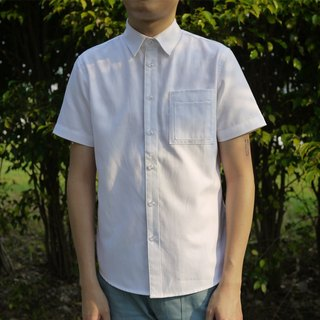 修身牛津短袖衬衫/素色/oxford shirt/纯棉/中性款/情侣款
