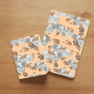 Notebook set : Capybara (set of 2)