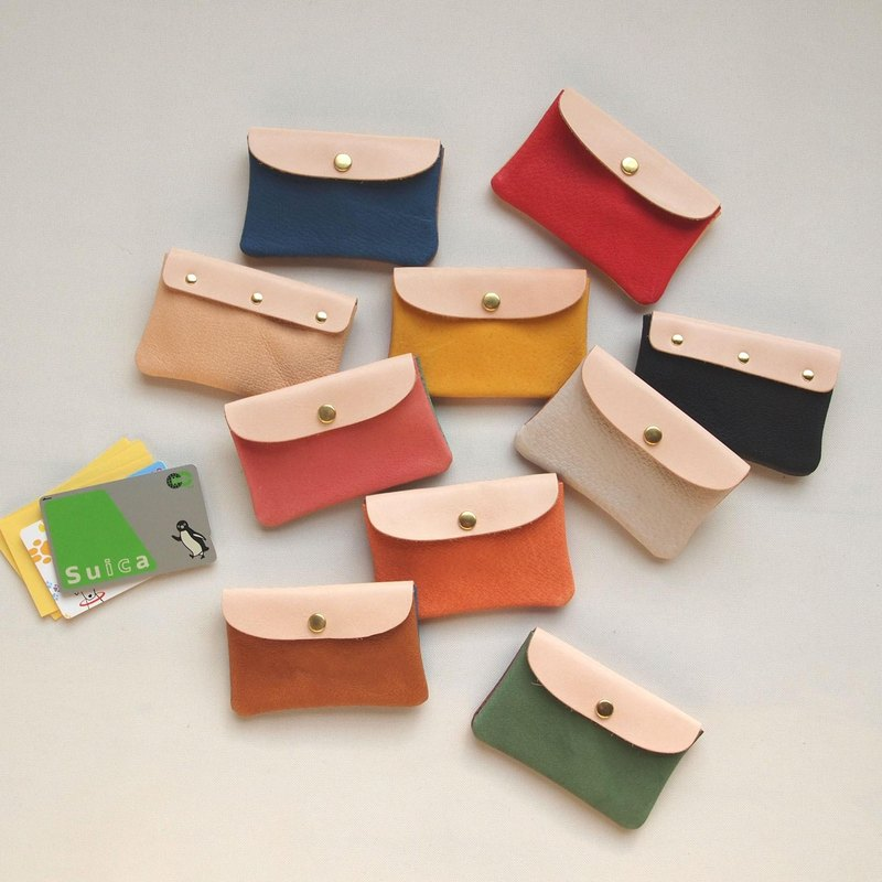 【Selectable color】 Pig Leather * Soft Card Case S 【256 streets】 Pass Case * Business Card Holder *