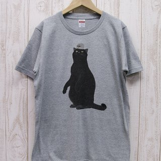 Battle Kuroneko Tee Hedgehog Heather Gray RIT 019 - GR