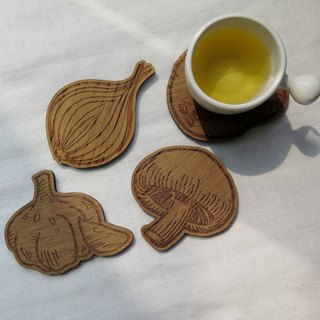 Wooden Coasters Food Ingredients Collection | Set