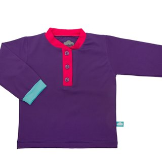 SanBelle Baby Long T-shirts★Permanent skin protection★0-12m Purple×Pink