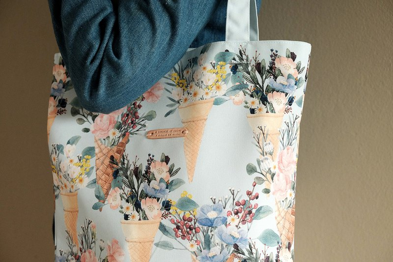 Tote bag : FLOWER CONES
