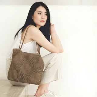 Crochet Polka Dot Tote Bag | Earthy