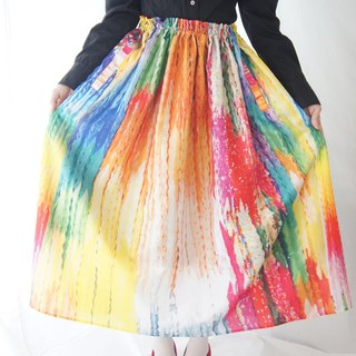 Thousand Cranes print skirt / A thousand paper cranes print skirt