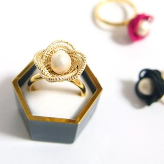 japanese style ring / mizuhiki / japan / accessory / flower