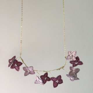 [ Bluesy Mod ] --- Slender Silhouette floret necklace . 黄铜幼线剪型花朵项链
