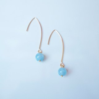 Aqua marin earrings 海蓝宝石耳环